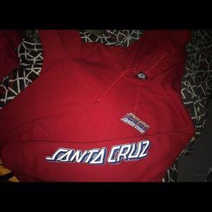 Red Santa Cruz hoodie